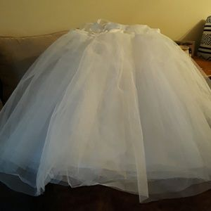 Crinoline under skirt for large ball dress.